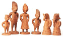 Javanese Softwood Figural Chess Set, early 20th century