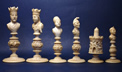 Macao High-Quality Ivory Chess Set, mid 19th Century