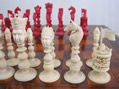 Macao Red and White Ivory Set