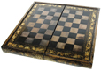 Chinese Export Chess & Backgammon Board/Box