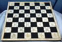 Indian Ivory and Ebony Chessboard, 19th Century