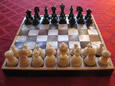 Mother-of-Pearl Chess Set and Board, 19th Century